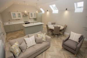 Living room in Lambsquay House, luxury self catering apartments in the Forest of Dean