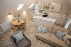dining room in Lambsquay House, luxury self catering apartments in the Forest of Dean