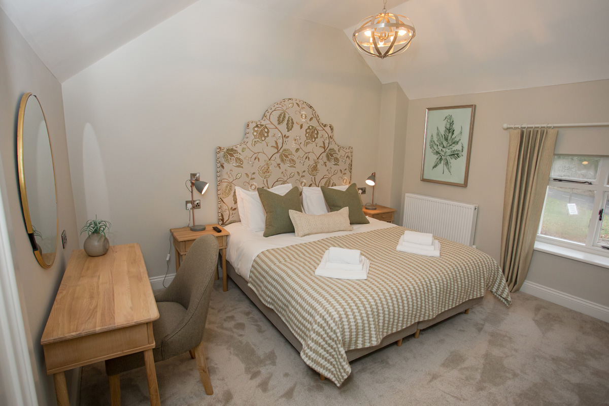 bedroom in Lambsquay House, luxury self catering apartments in the Forest of Dean