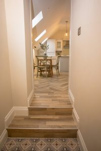 hallway in Lambsquay House, luxury self catering apartments in the Forest of Dean